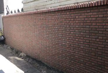 Schutting verwijderen & muur gemetseld